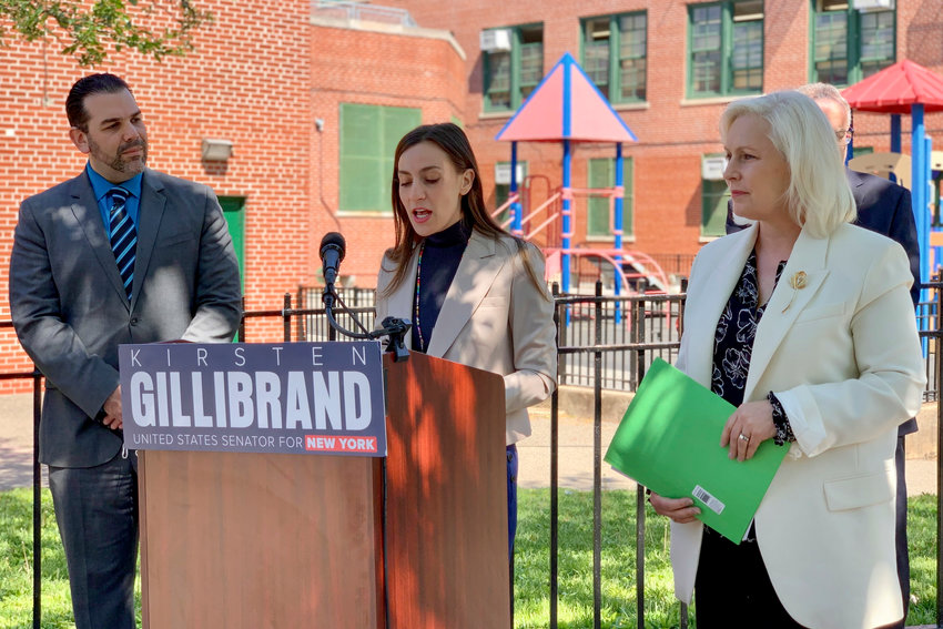 State Sen. Alessandra Biaggi was one of several local electeds who stood in support of the Universal School Meals Program Act. If signed into law, the bill intends to make schools providers of breakfast, lunch and dinner.
