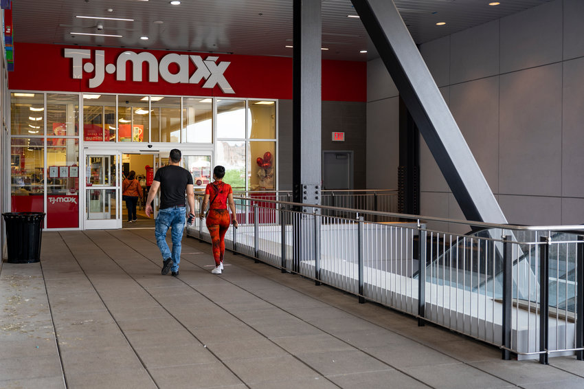 The exterior of the TJ Maxx at 171 West 230th Street.