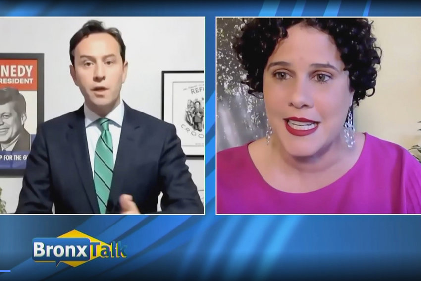 Attorney Dan Padernacht went after non-profit executive director Mino Lora for her $50 donation to former Independent Democratic Conference member Marisol Alcantara in 2018 during a recent BronxNet debate. Padernacht and Lora, along with four other candidates, are running in a June 22 Democratic primary to represent this corner of the Bronx for the next two years.