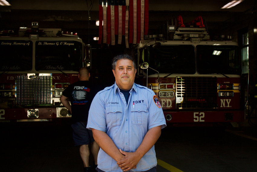 Lt. Gilbert Cabanas led his Ladder 52 crew into a sixth-floor apartment on West 240th Street on Nov. 4, 2019. He suffered second-degree burns to his hands and face while saving a woman's life. That earned Cabanas the 2020 Hispanic Society/23rd Street Fire Memorial Medal of Valor for his heroics.