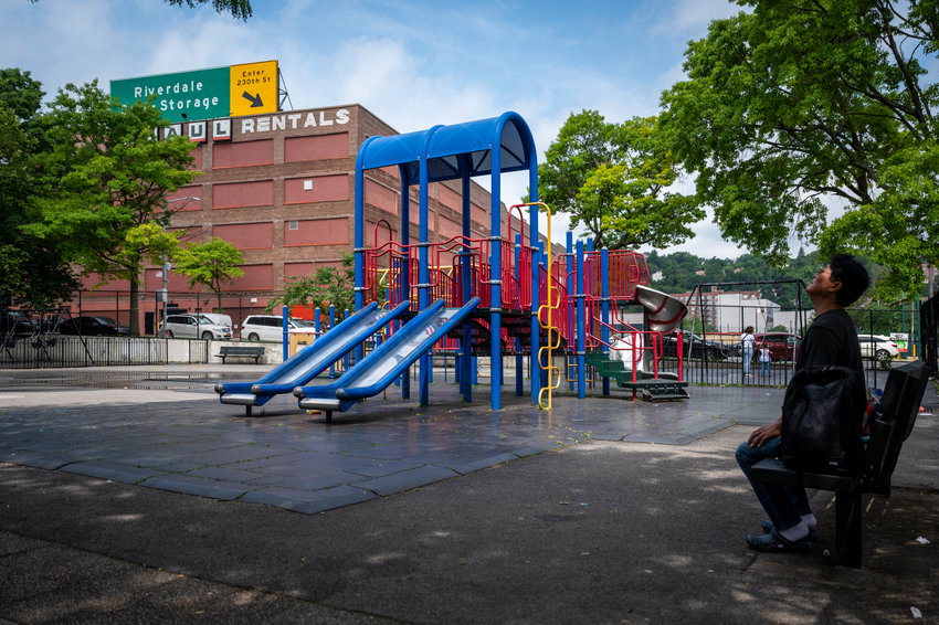 Life around Marble Hill Playground on Monday, June 21, 2021.