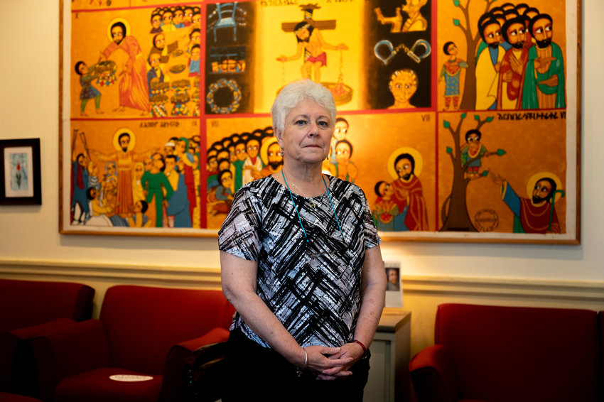 Many of Lois Harr's previous jobs have involved some level of religious outreach or social justice work. And as Manhattan College's campus ministry and social action director — from which she retired at the end of this past semester — she was able to get the best of both worlds.