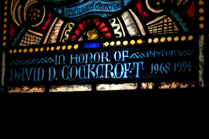 There are many stories told in stained-glass windows found in churches. But this particular one at Riverdale Presbyterian Church shares the event-filled ministry of the Rev. David Cockcroft, who served the spiritual needs of the congregation between 1968 and 1994. Cockcroft died June 3 at 89.