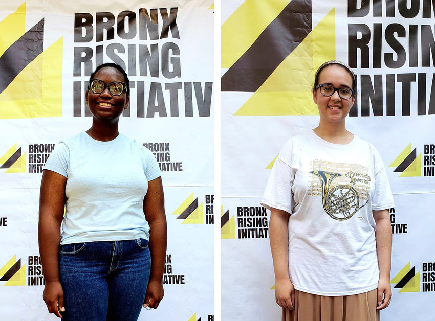 Abigail Smith  left, and Rachel Turbridy were two of the 10 winners of the Brandon Hendricks scholarship, created in memory of the Bronx teen shot and killed just days after graduating high school last year.