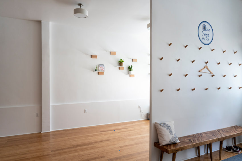 The One Yoga for All studio space on Johnson Avenue will soon be home to a monthly pop-up market for local artists and businesses, says its founder, Eduvigis Marmolejos. The studio can fit up to 10 vendors who can sell homemade crafts like candles and jewelry as well as food.