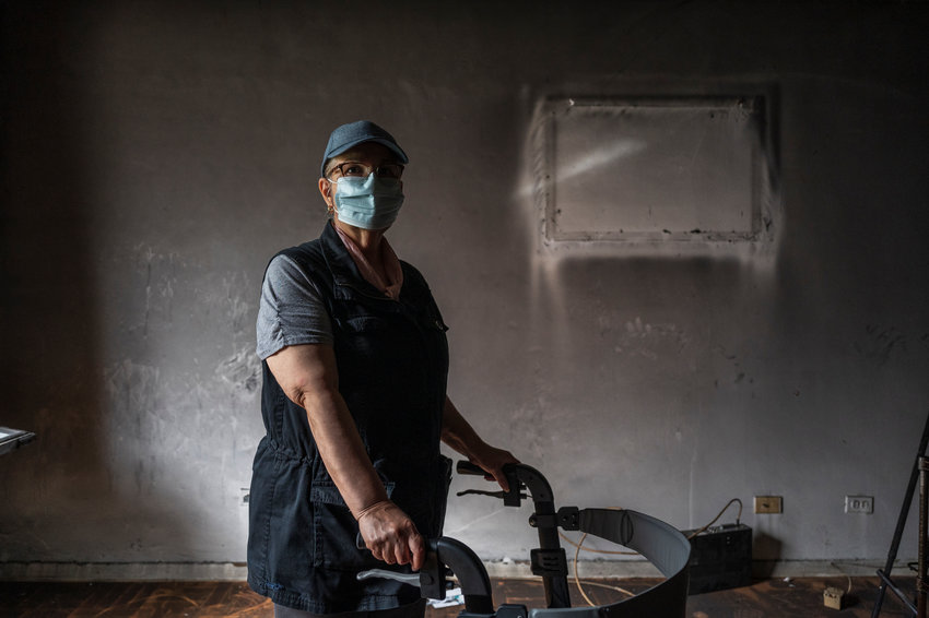 For the first time since fire ripped through her longtime home, Nitza Bravo stands in what was once her living room at her 3215 Arlington Ave., co-op. The January tragedy claimed the life of her ex-husband, Juan Melendez, and she wants nothing more than to return home.