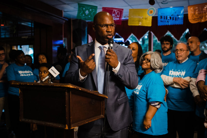 U.S. Rep. Jamaal Bowman is not exactly a happy congressman despite the passage of the Democratic-led infrastructure bill through a divided U.S. Senate. In fact, Bowman says he and other progressives may not support Joe Biden's signature bill in the House if the Senate fails to move a budget resolution worth three times as much.