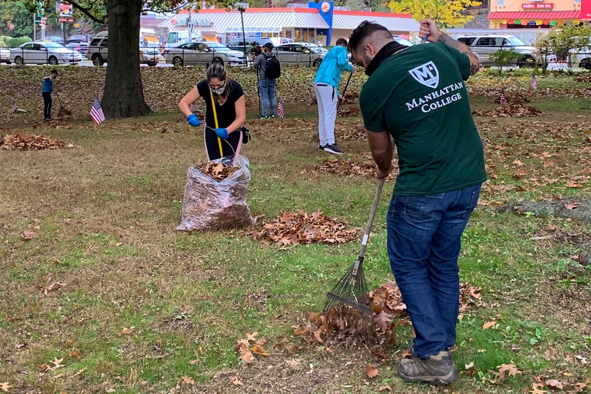 Members of Manhattan College's Student Veteran Organization say some of their favorite volunteer experiences included doing clean-ups of Dogwood Junction near the school's campus, as well as at Memorial Grove in Van Cortlandt Park last year. It was those efforts and more that earned them the top service award from Community Board 8, named after longtime neighborhood advocate Irving Ladimer.