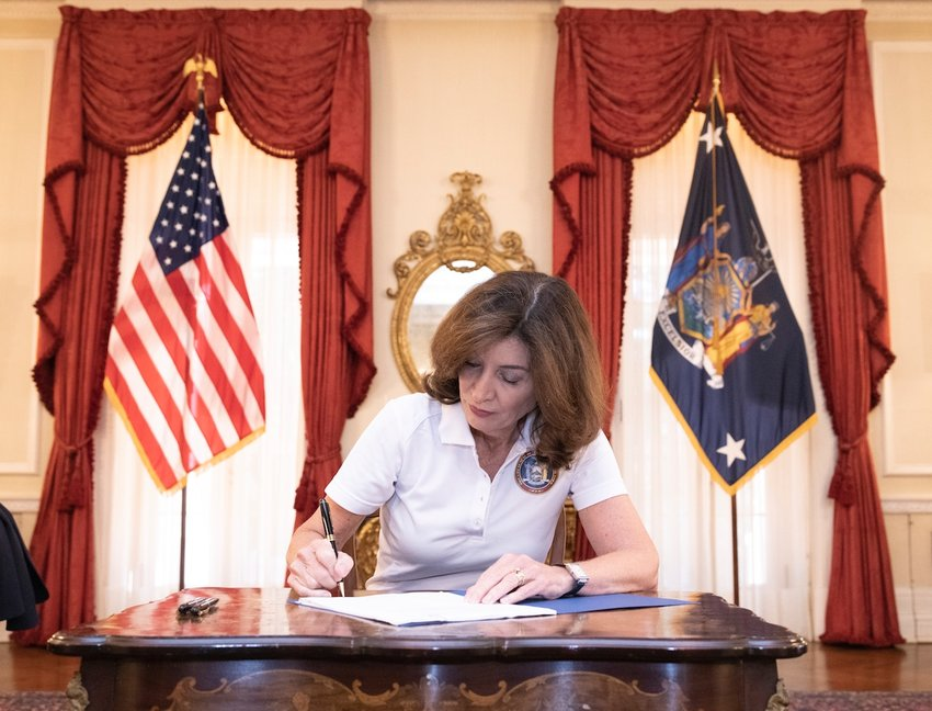 After calling the legislature back into a special session, Gov. Kathy Hochul signed into law a measure that would extend the coronavirus pandemic-era eviction moratorium through next January.