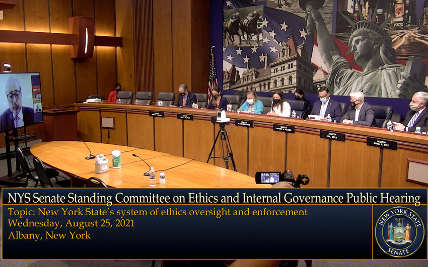 State Sen. Alessandra Biaggi held a hearing late last month to gather testimony about the alleged issues with the Joint Commission on Public Ethics, the state's ethics watchdog. Biaggi sponsored a bill seeking to reform JCOPE by changing how it vote and how its commissioners are appointed.