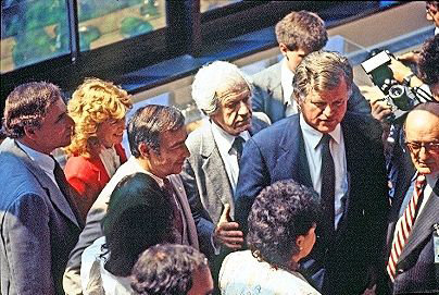 Massachusetts senator Ted Kennedy joined then Hebrew Home at Riverdale leader Jacob Reingold for one of several Grandparents Day events held at the Palisade Avenue facility over the years. Reingold's son, Dan, continues the tradition to this day, even with the coronavirus pandemic continuing to linger.