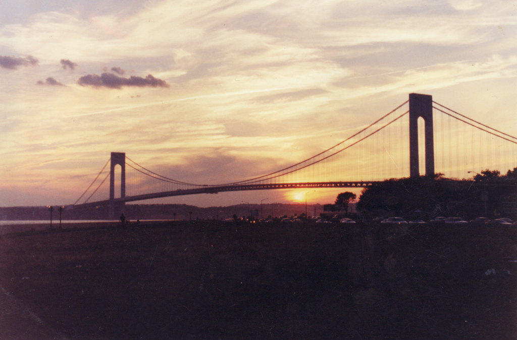 Verraazano Bridge Sunset