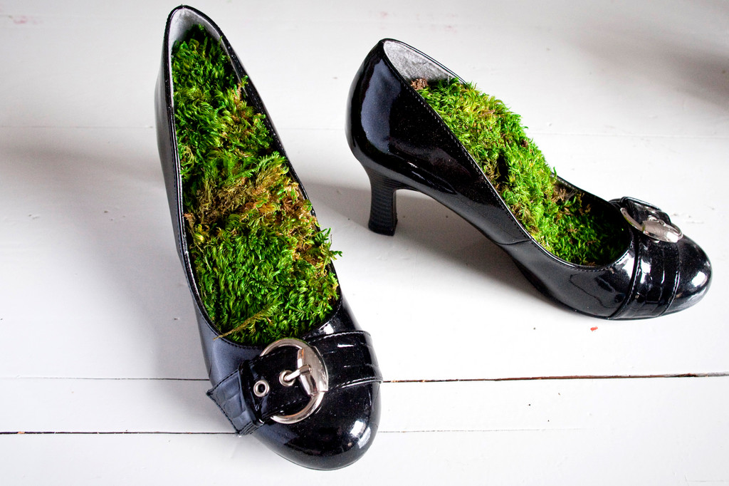 Artist Courtney White's shoes will be on display at the YoHo arts space in Yonkers during the fall open studios.