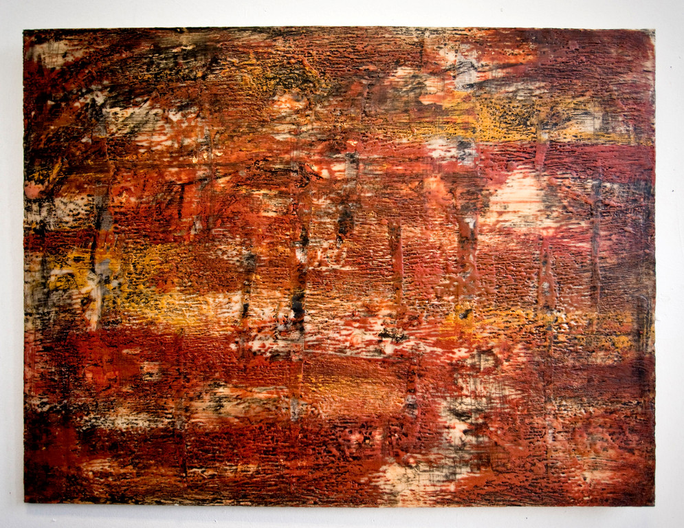 An example of Deborah Yasinsky's encaustic work.
