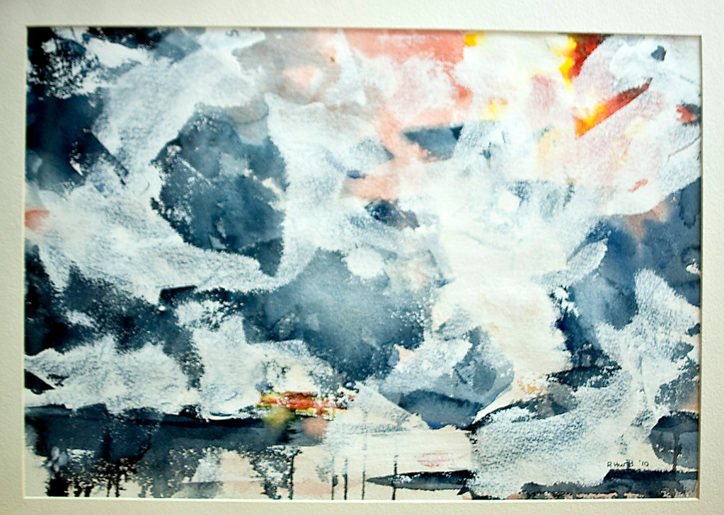 Riverdale watercolorist Ruth Hurd's piece, Winds of Change, which was inspired by the Deep Horizon disaster, is on exhibit.