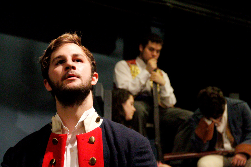 Alex Walton performs during a rehearsal of the Riverdale Rising Stars' 'Les Miserables — School Edition.'