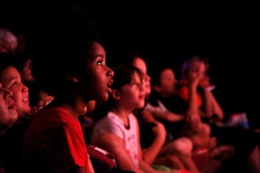 A rapt audience watches the Rising Stars' production of 'Thoroughly Modern Millie Jr.'
