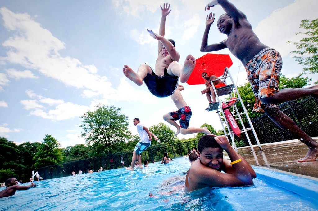 The Van Cortlandt Pool opened for the summer on June 29.