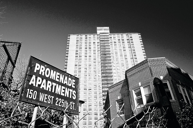 The Promenade Apartments, located at 150 W. 225th St., is a 318-unit Mitchell-Lama building in Marble Hill.