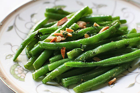 Green beans are best when they're still crisp and bright green after cooking.