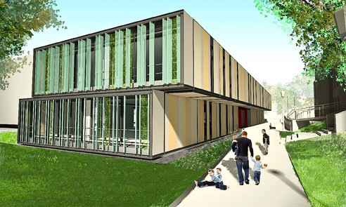 A rendering of the Lehman College Child Care Center that is scheduled to open in January.