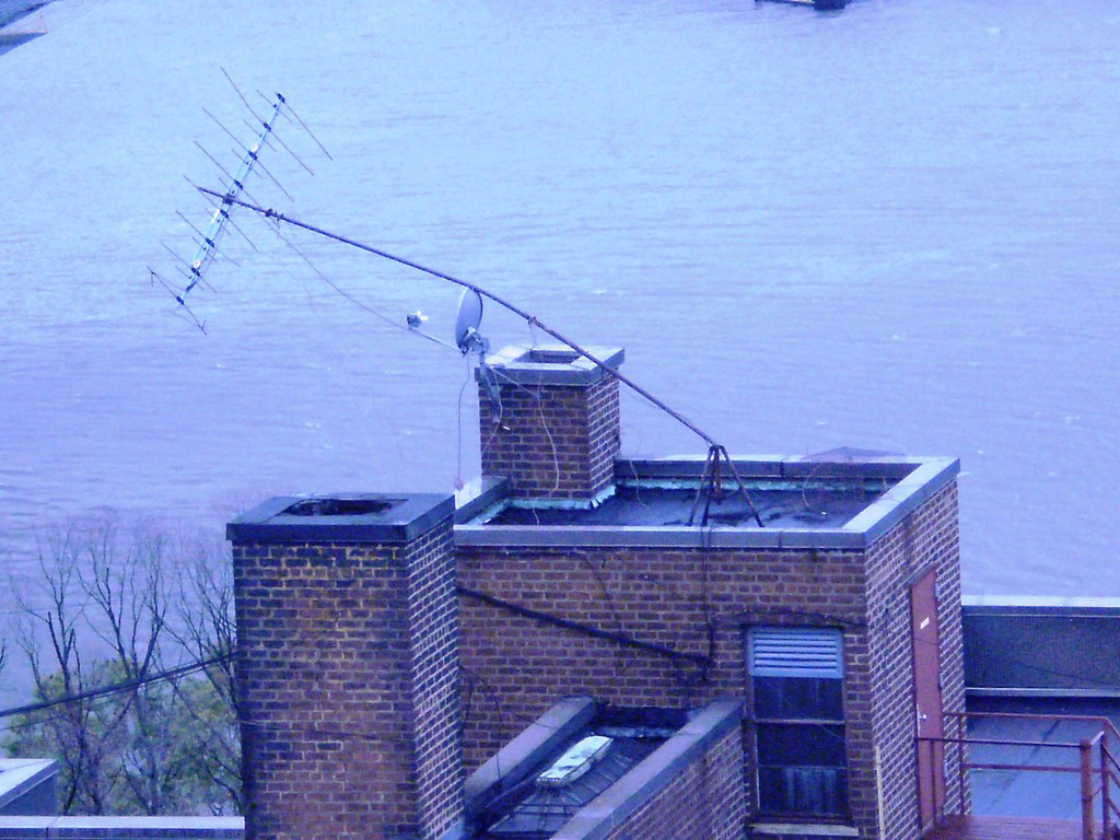 A reader submitted this photo of water creeping up on an MTA structure near the Henry Hudson Bridge.