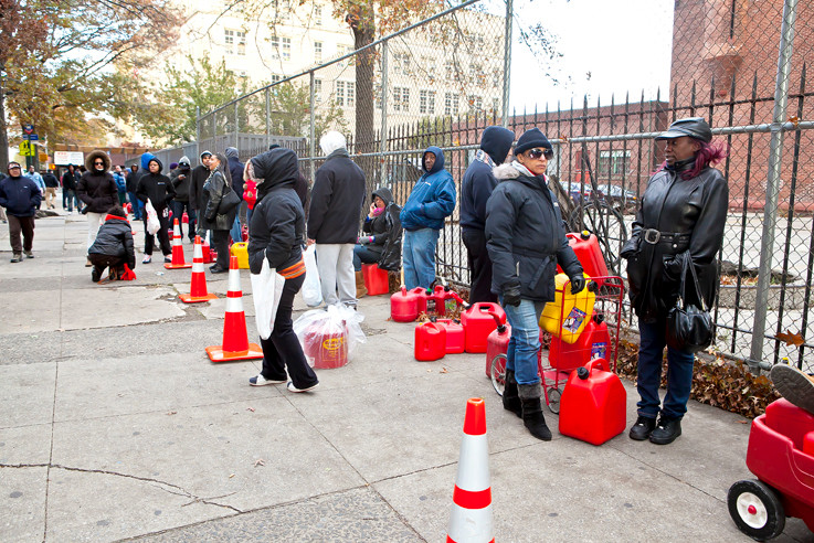 Some Bronx residents lined up for more than eight hours waiting for a fuel truck that never came.