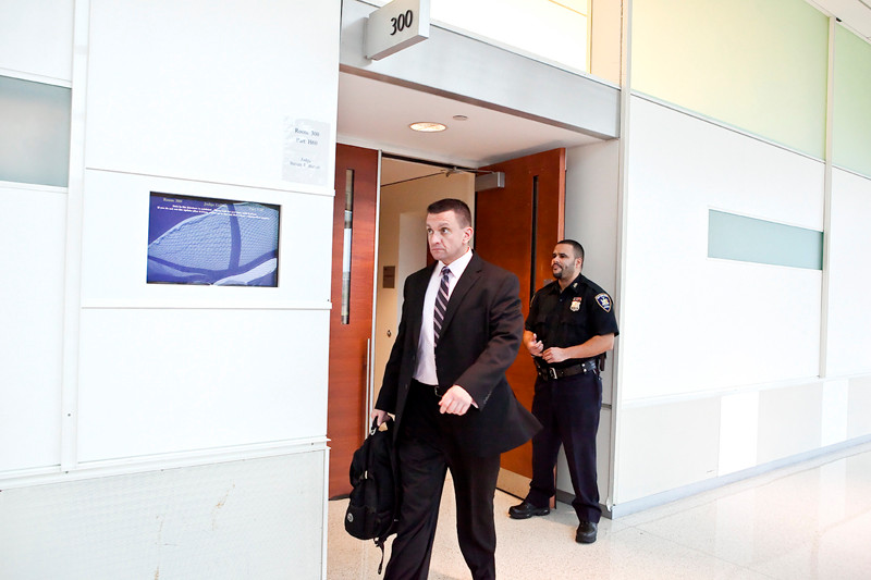 Kevin Spellman exits a Bronx courtroom on Oct. 19.