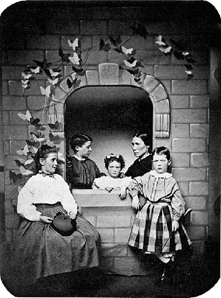 Grace Hoadley Dodge, at left, poses with her brothers and sisters in 1864. At age 16 she created a workers' library that grew to become Riverdale Neighborhood House.