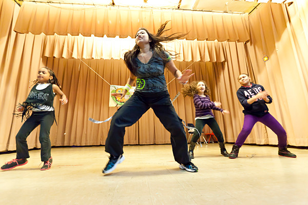 Alexandria Castro, Supicha Castro, Melissa Díaz and Jannelys Martinez spend Dec. 29 dancing to raise money to save Our Lady of Angels from the chopping block.