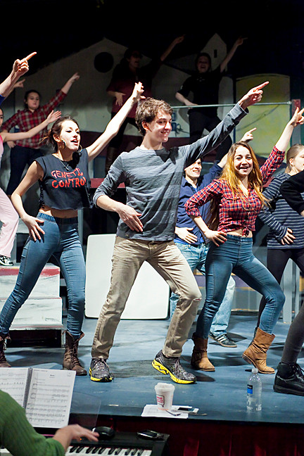 Lindsey Crowe, Jacob Levi-Dabby and Lea Cohen lead the production and strike a pose.