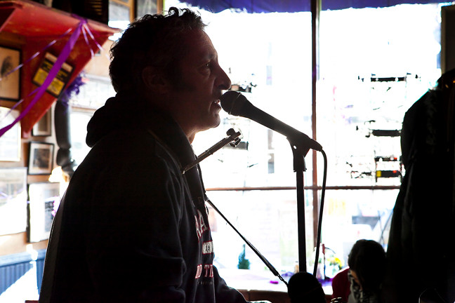 "Johnny Seven performs 'Bronx Backyard"" during the Purple Hat Foundation fundraiser Saturday afternoon."