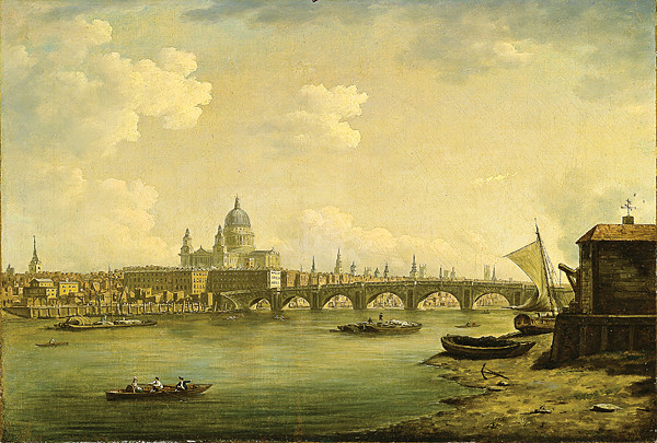 William Marlow's 'St Paul's and Blackfriars Bridge' (1770-1772)