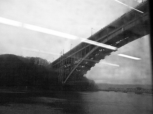 A view of the Henry Hudson Bridge during the foggy afternoon on Saturday, as seen from