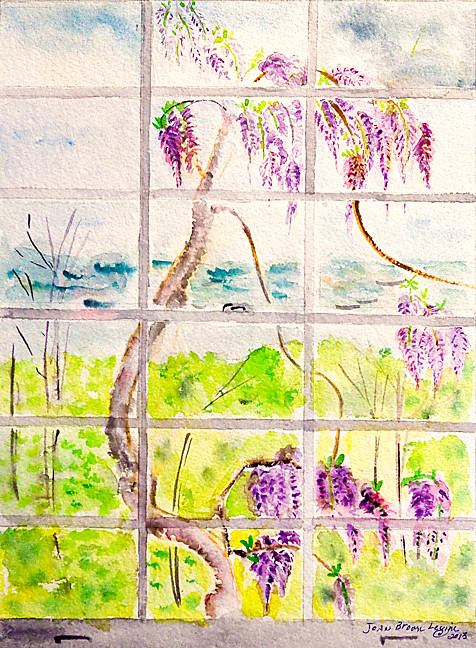 'Wisteria' by Joan Brown Levine is one of 13 pieces featured in the group show, '4 Woman's Exhibit: Art Alive in Riverdale,' at the Riverdale-Yonkers Society for Ethical Culture.