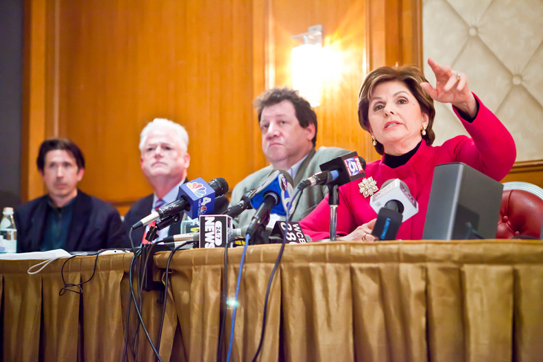 Attorney Gloria Allred, who represents 25 alleged sexual abuse victims, speaks at a press conference in the Omni Berkshire Hotel Monday.