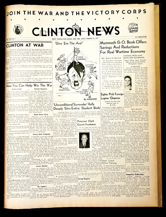 The February 26, 1943 edition of �The Clinton News� features multiple stories about �The Big One.�
