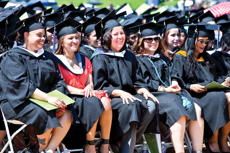 Mariluz Darila, Delila Lopez, Anai Fuentes, Ana L. Hernandez and Jennifer Martinez, all receiving a  B.A in Sociology  are among the Lehman College 2013 graduates.