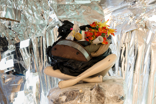 'Street Life,' 2013. Accumulated debris and heirlooms, dimensions variable, by Abigail DeVille on view at The Bronx Museum of the Arts.