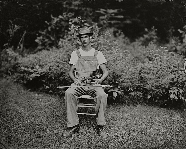 "Matthew McElroy, Athens, OH, 2012. Tintype, 10"" x 8"" by Lisa Elmaleh on view at Wave Hill."