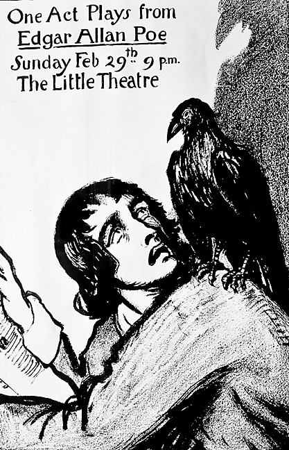 The walls feature images including a 20th century advertisement for an adaptation of