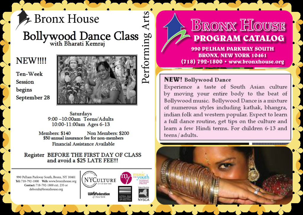 Bollywood Dance Classes @ Bronx House