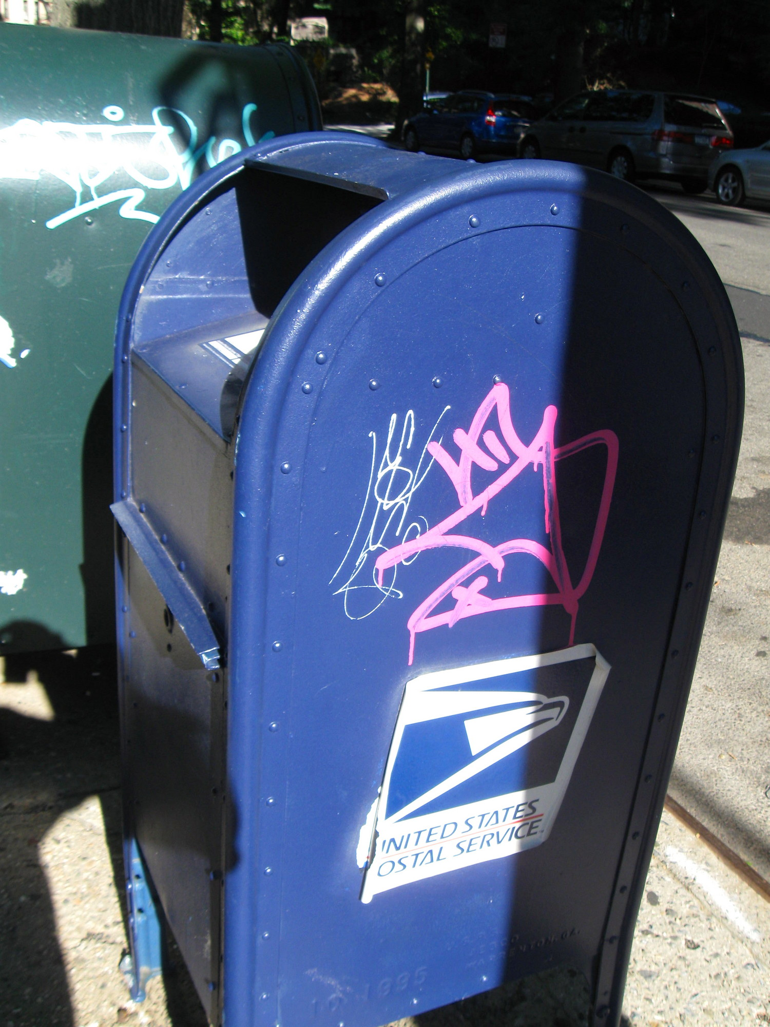 graffitied mailbox 3845 Sedgwick Avenue