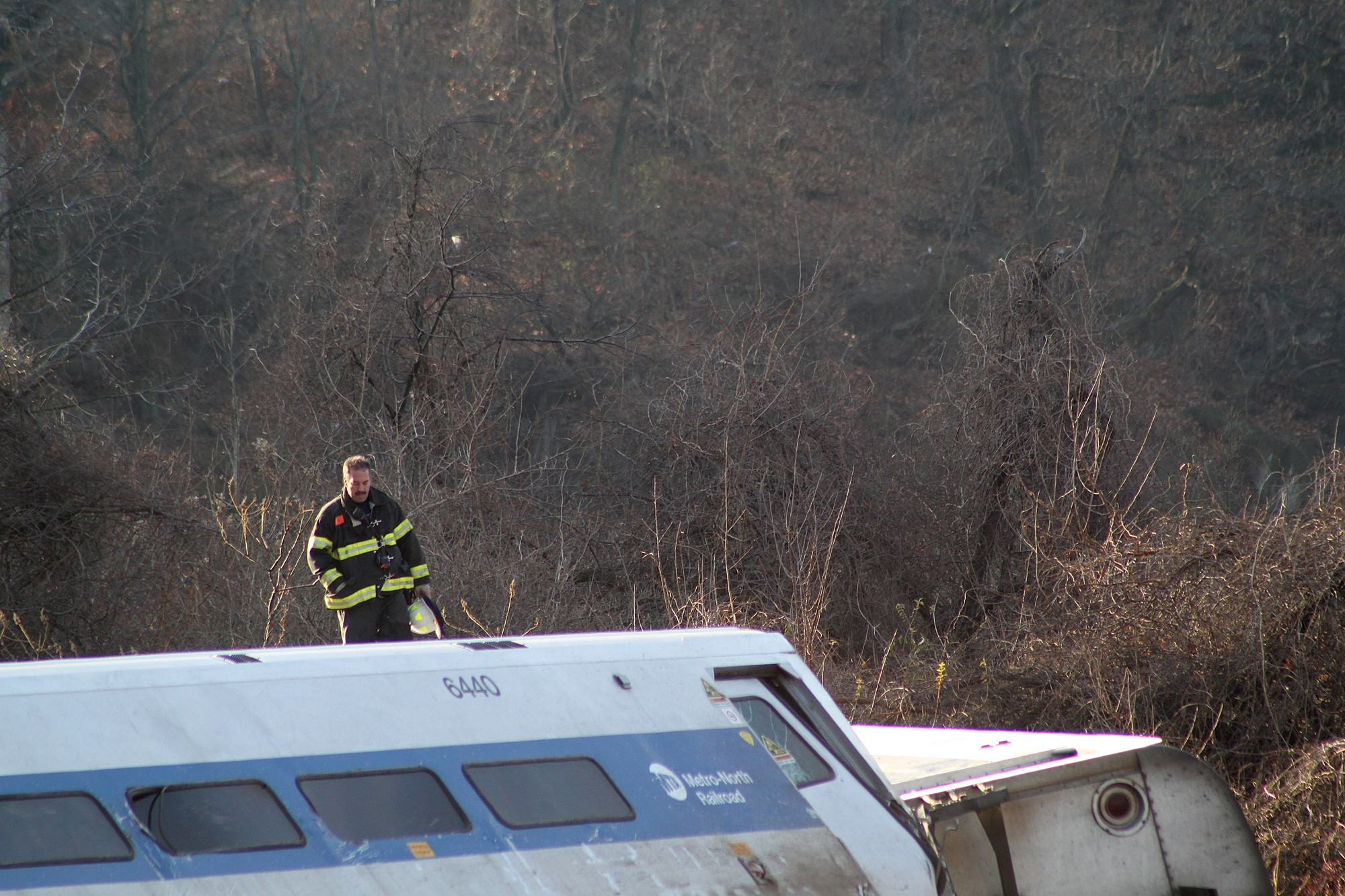 The 5:54 AM train derailed near the Spuyten Duyvil station