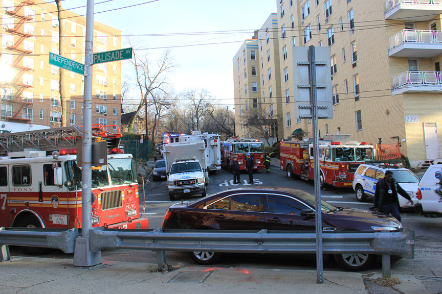Emergency vehicles clogged Spuyten Duyvil streets stranding residents in their homes.