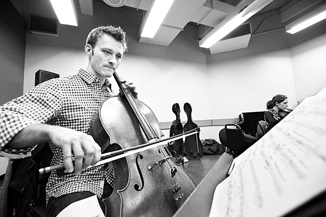 Robert Burkhart is the Sinfonietta's Cellist.