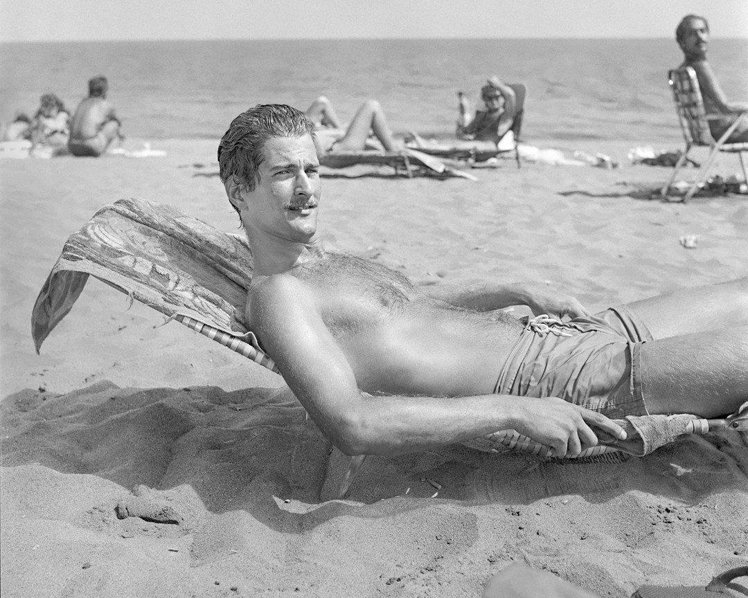 'Moustached Man at the Beach.'