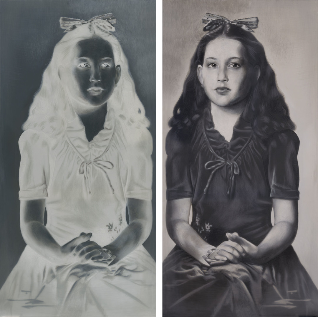 Anthony Goicolea's, �Aunt (Positive Negative Diptych).�