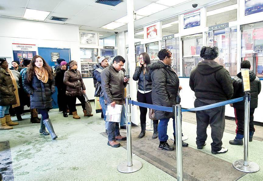 Long lines and spotty service have raised the hackles of residents served by the Kingsbridge Post Office. On Tuesday, several customers said they had waited twenty to thirty minutes to get to a window.
