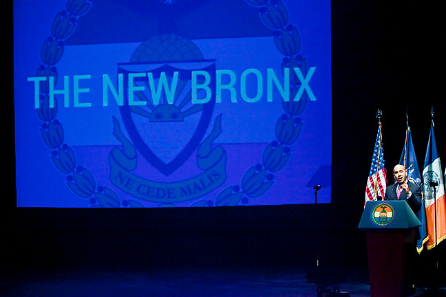 Bronx Borough President Ruben Diaz Jr. speaks about the new Bronx in his 2014 State of the Borough Addres.